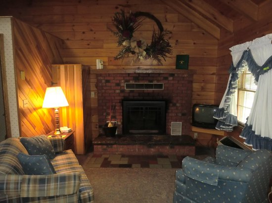 Living room small tv smaller than our family cottage for Small log cabin living
