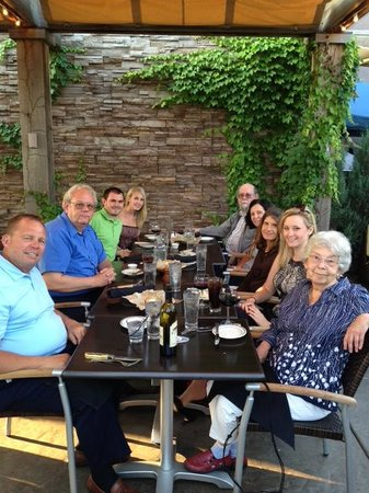 Pittsburgh Blue Steakhouse: Family Dinner on the patio at Pittsburgh Blue