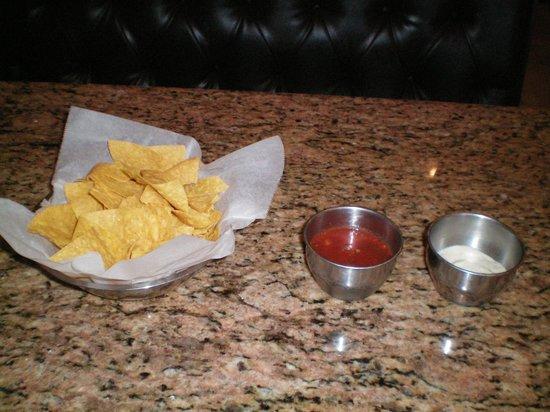 Plaza Azteca : Chips, Salsa, & Tartar Sauce.