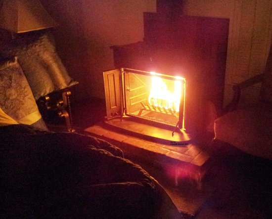Hofsas House Hotel: Cool Night Air Makes in-room Fireplaces a Welcome Touch
