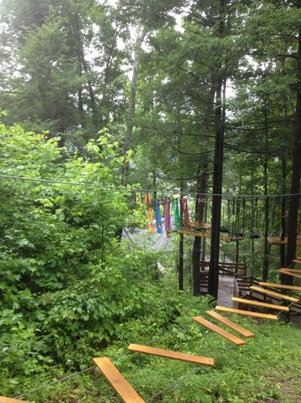 Zip Gatlinburg: Part of the Ropes Course