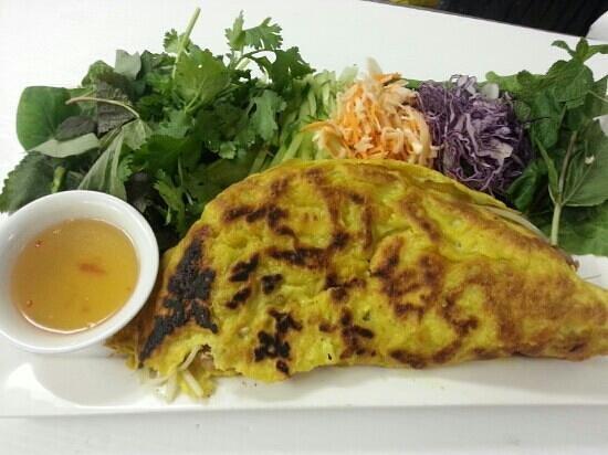 Restaurant Charme Cochinchine: crepe vietnamienne - banh xeo