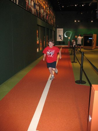 World of Little League: Peter J. McGovern Museum and Official Store : Run the base and see if you can beat the days best time