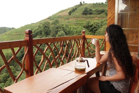 Baike Hotel : Dinning Balcony with view