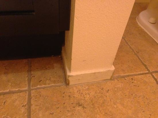 Cliffs at Peace Canyon : baseboard are all damaged and dirty