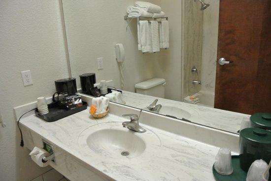 La Quinta Inn & Suites Dallas - Las Colinas: The bathroom.