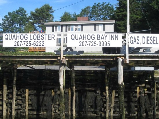 Quahog Bay Inn in Harpswell, Maine: From the lower dock