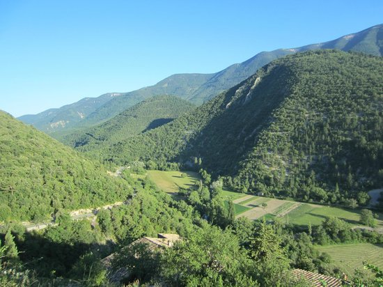 La Poterne: One of the views out onto the Toulourenc valley
