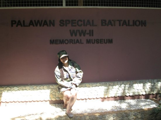 Palawan Special Battalion WW2 Memorial Museum: YOU CAN EVEN WEAR OLD FATIGUE UNIFORMS
