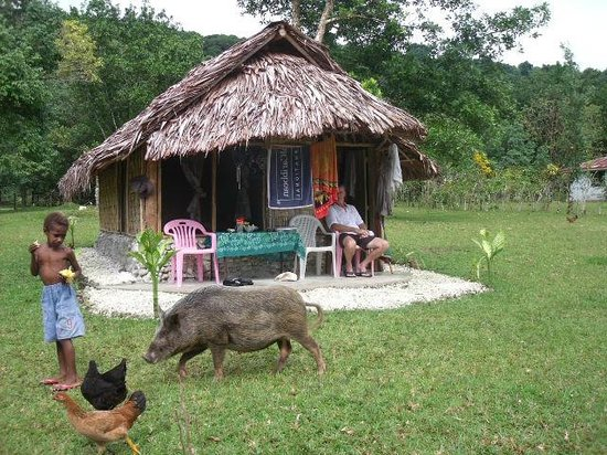 Towock Restaurant and Bungalows : Relaxing with the locals