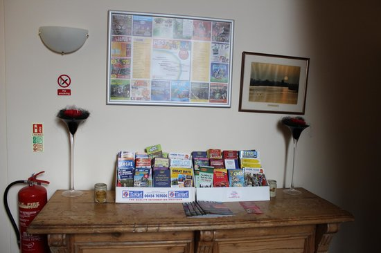 The William IV: Information Leaflet Table in foyer