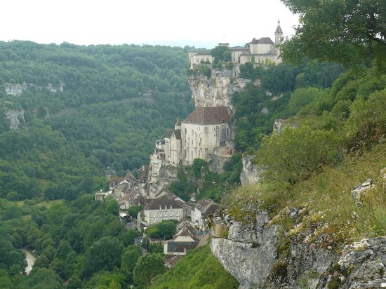 Hotel du Lion d'Or : Rocamadour from L'Hospitalet