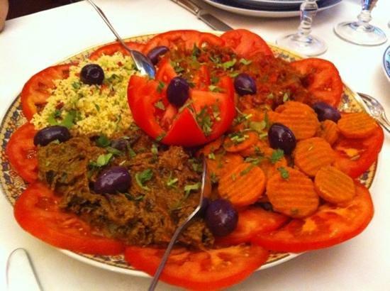 Le Ksar : les 4 salades en entrée...