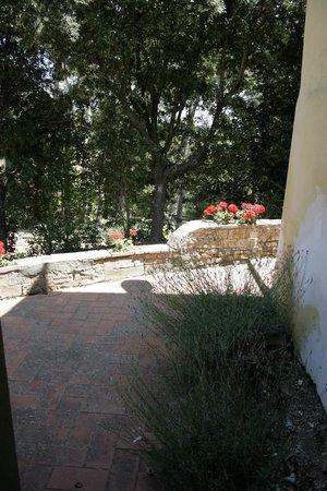 Fattoria Bacio: taras obok wejścia głównego