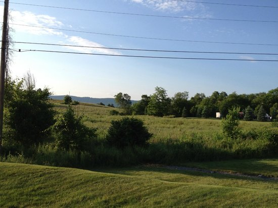 Hampton Inn Carlisle : Behind the hotel are broad quiet farm fields - not to mention it is far enough from the highway.