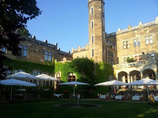 Hotel und Restaurant Schloss Eckberg: Terrasse Restaurant Schloss Eckberg