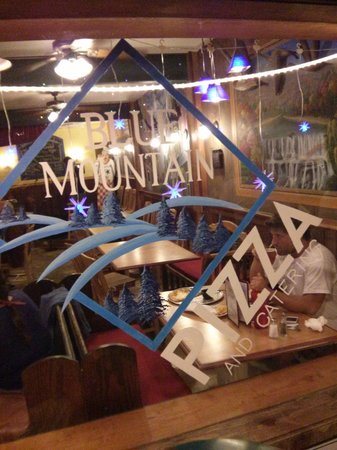Blue Mountain Pizza: window