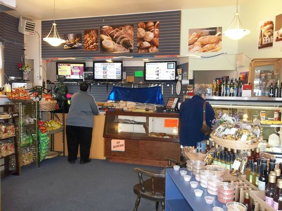 Sourdough Bakery: Order and payment counter. Get sandwiches, bread, picnic or dinner!