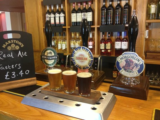 The Boars Head: Real ale taster boards