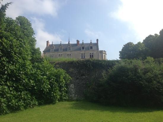 Chateau de Vaugrignon : vue depuis le jardin