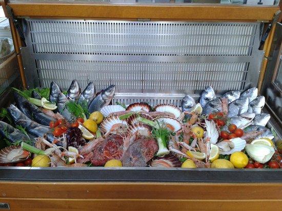Ristorante Pizzeria Il Capriccio: vetrina di pesce fresco del giorno
