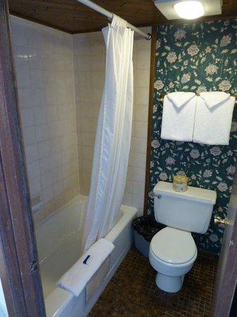 Sequim West Inn & RV Park: Small shover room