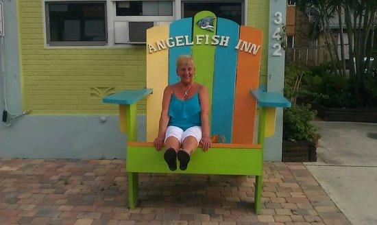 Angelfish Inn: Just chillaxing at Angelfish
