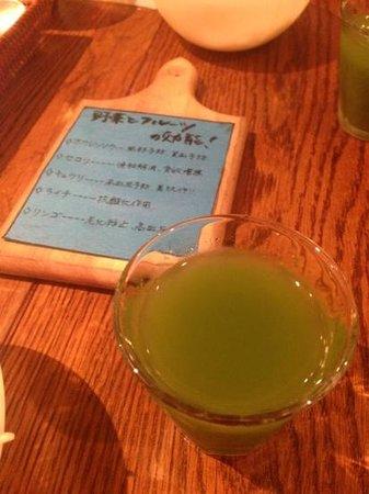 Oreno Hamburg  Yamamoto: ランチに付いてきた野菜ジュース