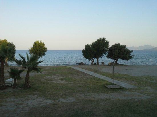 Olympia Mare: Vista dal terrazzino della camera
