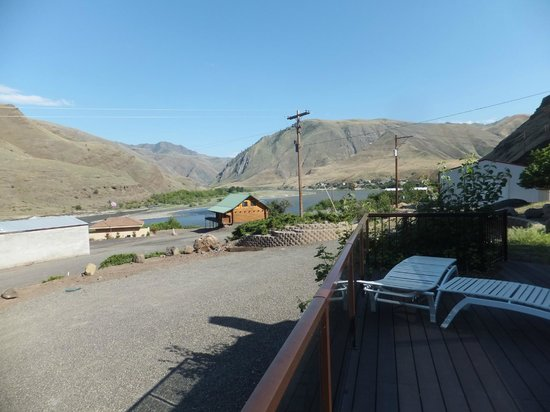 Asotin, Waszyngton: View from our deck of Hells Canyon