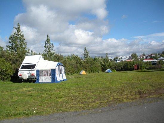 Lava Hostel : Our campsite