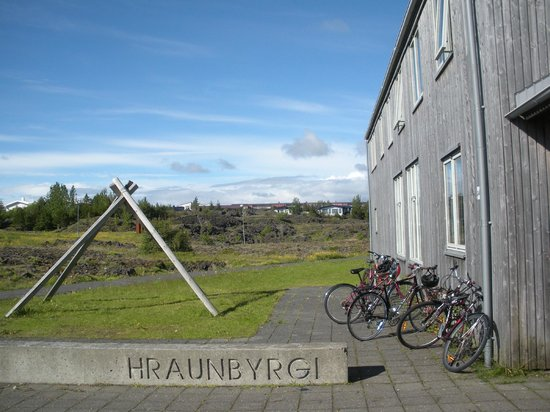 Lava Hostel is situated in Hraunbyrgi Scout center