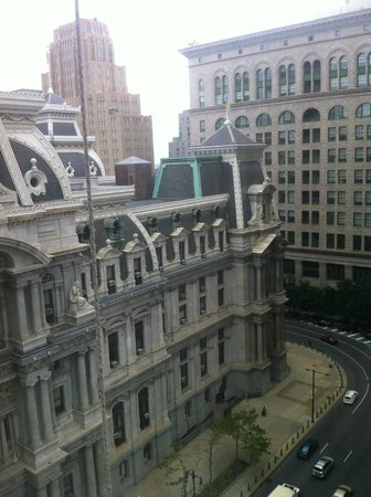 Philly city hall from room