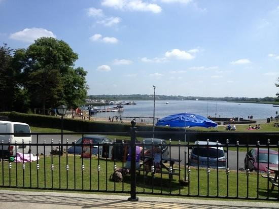 The Rudder Wheel: view from the pub