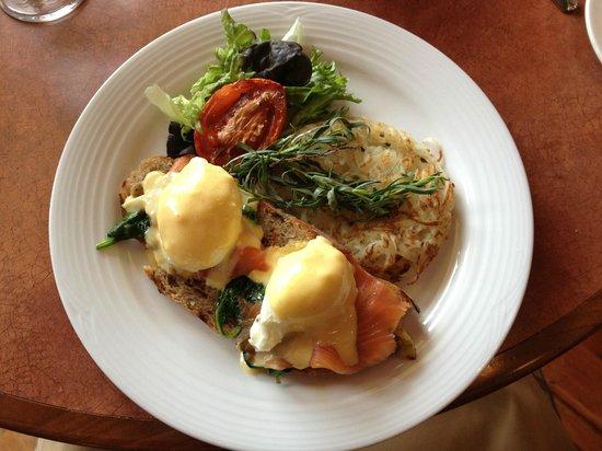 Highlanders Bar: Eggs Natasha-popular item on The Stone Brunch Menu, served Sundays 10:30-3
