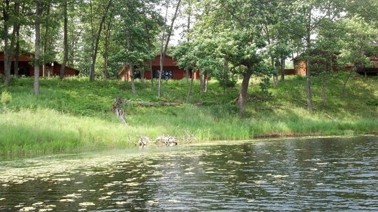 Canoe Bay: Our cottage, as viewed from the lake.