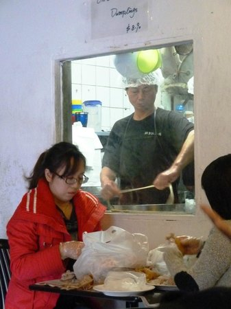 "Chinese Noodle Restaurant: The noodle ""chef"" and his assistants"