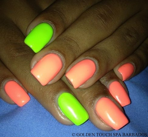 Golden Touch Spa Barbados : Gel Polish on Nails