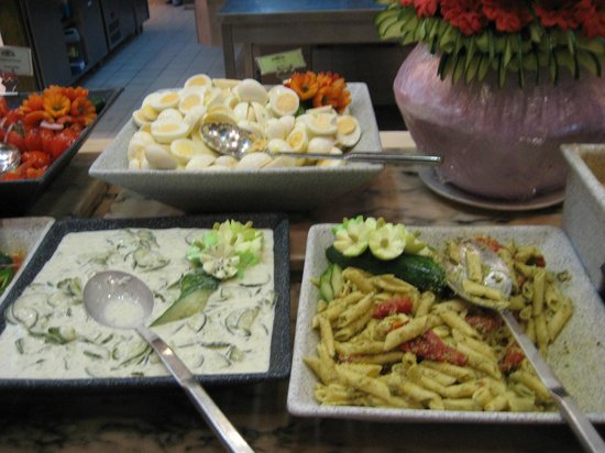 Cold Dishes Hard Boiled Eggs Pasta Salad Tzatziki Picture Of