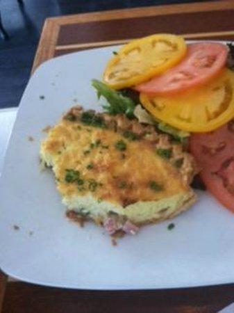 Blackfin Bistro: Ham and Swiss Quiche. Best ever!