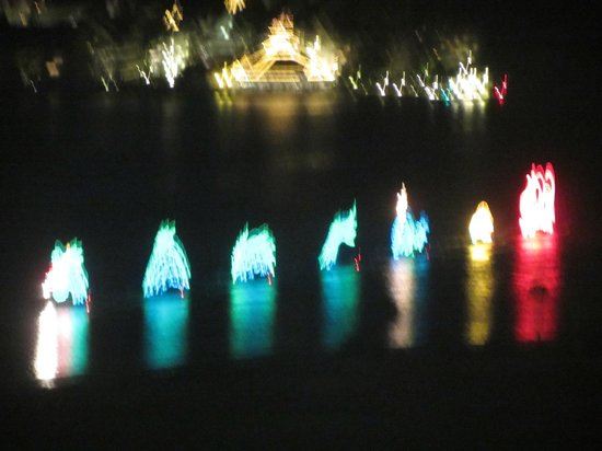 Disney's Contemporary Resort: Electric Boat Parade view from balcony