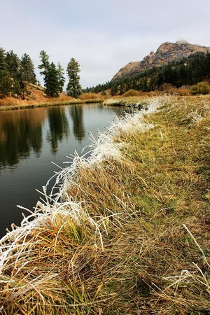 Lost Valley Ranch: Cold day at the pond
