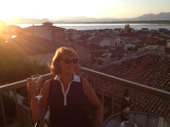 Amfitriti Palazzo Hotel: view from our deck at Amfitriti