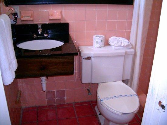 Budget Inn Okeechobee: Bathroom in rooms.