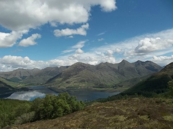 Kintail Lodge: Five Sisters from Mam Ratagan Pass