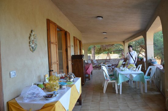 Villa Robbabate: la terrazza x la colazione
