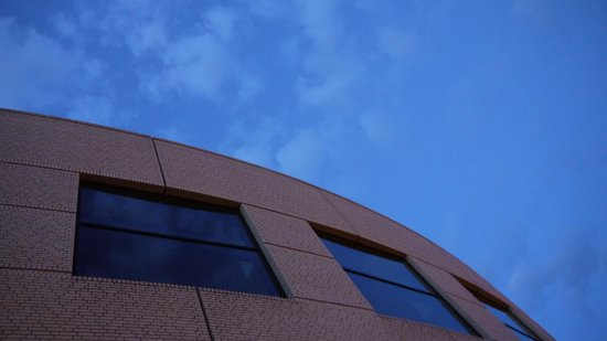 Oregon Convention Center: The exterior and the beautiful blue skies