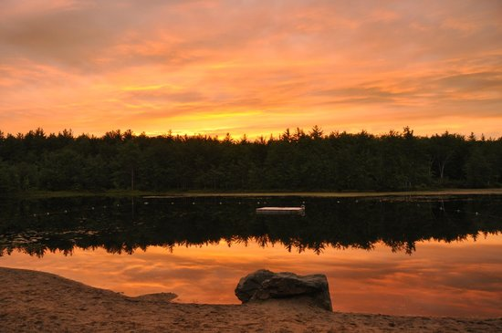 Beaver Dam Campground: perfect sunset after a cloudy day