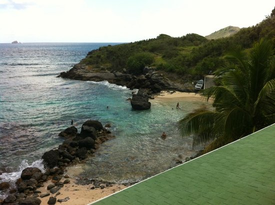 Auberge de la Petite Anse: View from balcony of room 2 of cove that is 30 second walk down the road