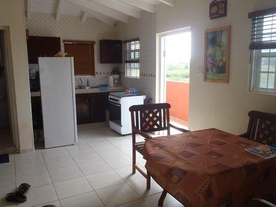 Nos Krusero Apartments: Kitchen, front door, table